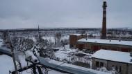 Im Niemandsland: Blick vom Dach des Wasserwerks, mitten im tödlichsten Schlachtfeld dieses Krieges