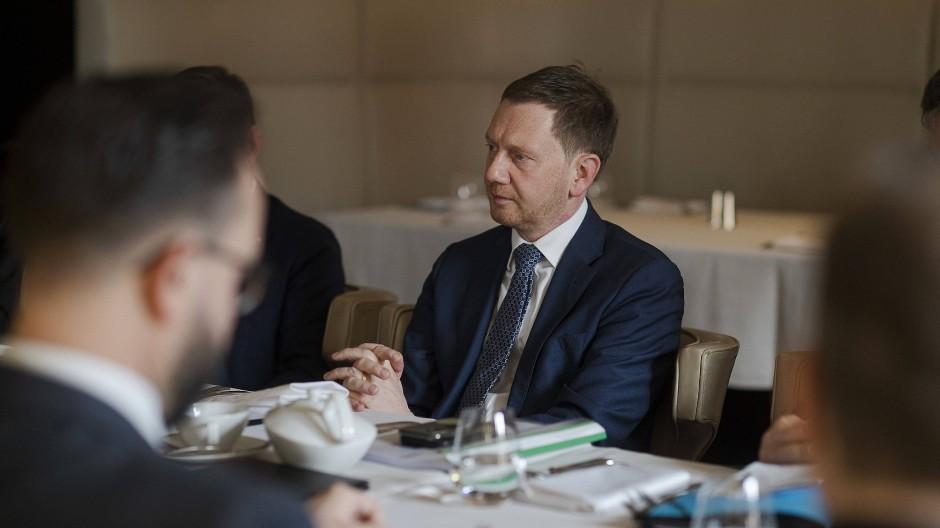 Der sächsische Ministerpräsident Michael Kretschmer bei Gesprächen in Moskau