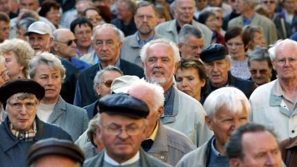 Rentner Protestmarsch