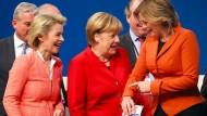 CDU-Politikerinnen Ursula von der Leyen, Angela Merkel und Julia Klöckner