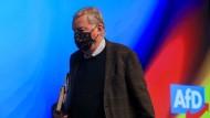 """Kritisierte Meuthens Rede als """"spalterisch"""": der Vorsitzende der Bundestagsfraktion und AfD-Ehrenvorsitzende Alexander Gauland"""
