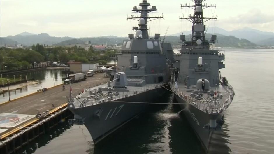 Japanische Kriegsschiffe im südchinesischen Meer