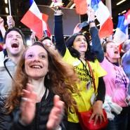 Jubelnde Macron-Anhänger am Wahlabend