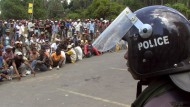 Demonstration vor wenigen Tagen in der hauptstadt Antananarivo