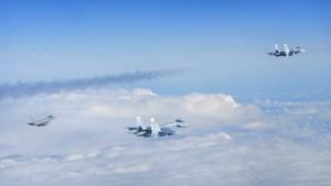 Amerikanisches Spionageflugzeug floh vor russischem Kampfjet