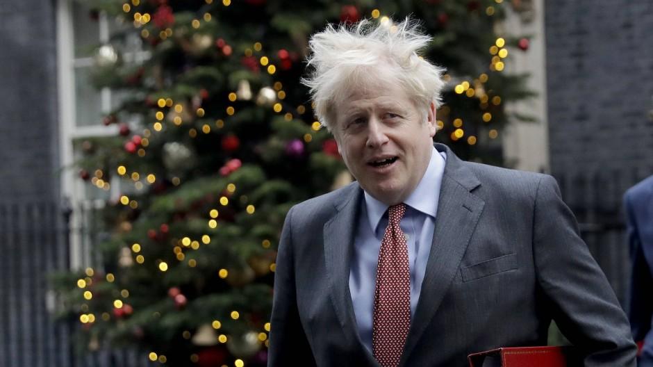 Britischer Premier Johnson am 8. Dezember in Downing Street 10