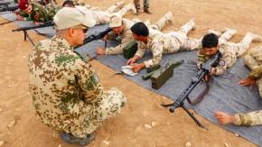 Kurdische Peschmerga werden bereits, hier in Erbil, von Bundeswehrsoldaten ausgebildet