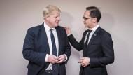 Gute Verbündete: Heiko Maas mit Boris Johnson