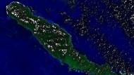 Satellitenbild der Provinzinsel Choiseul, die zu den Salomonen gehört