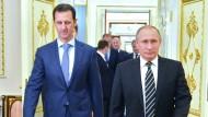 Seite an Seite: Assad und Putin bei einem Treffen im Kreml im Oktober
