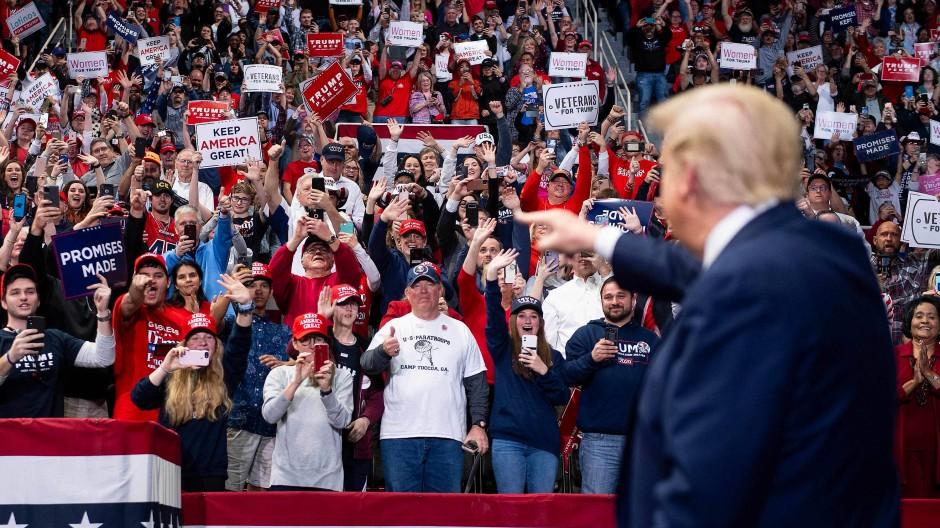 Präsident auf Entzug: Zuletzt hielt Trump am 2. März in Charlotte eine Kundgebung ab.