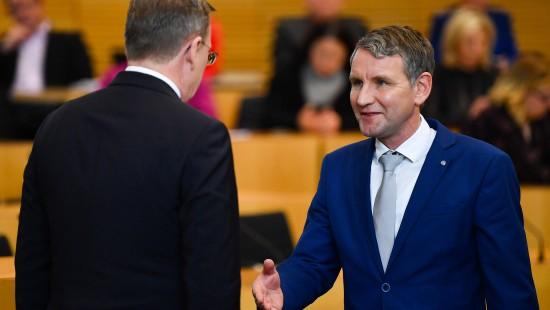 Ramelow verteidigt verweigerten Höcke-Handschlag