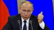Putin bietet Mitschrift des Gesprächs Trump-Lawrow an