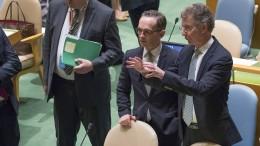 Deutschland sitzt ab 2019 wieder im UN-Sicherheitsrat