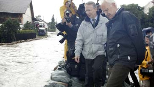Wahlkampf in Hochwasserzeiten