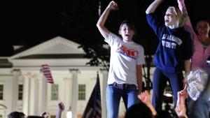 Feiern auf Washingtons Straßen