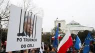 Proteste in Warschau