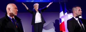 Marine Le Pen strahlt am Wahlabend.