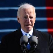 """""""Die Kräfte, die uns spalten, sind tief und echt"""": Joe Biden bei seiner Antrittsrede als 46. Präsident der Vereinigten Staaten vor dem Kapitol"""