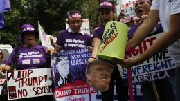 Proteste während Trump-Besuch