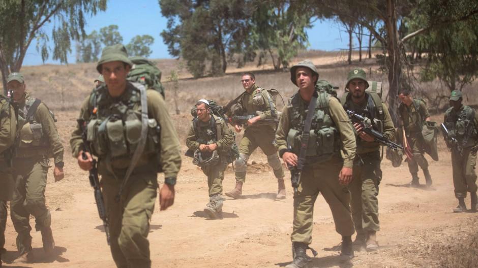 Offensive in Gaza: Israelische Infanteristen