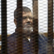 Der frühere ägyptische Präsident Muhammad Mursi in einer Gefängniszelle (Archivbild 2015)
