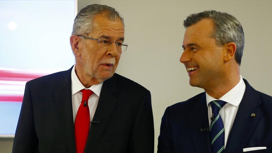 Die Kandidaten: Alexander Van der Bellen und Norbert Hofer