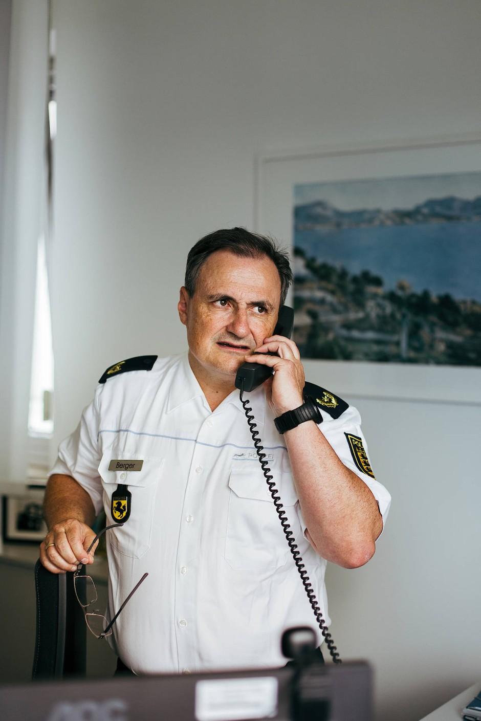 Der stellvertretende Polizeipräsident von Stuttgart und Einsatzleiter während der Ausschreitungen vom vergangenen Samstag, Thomas Berger