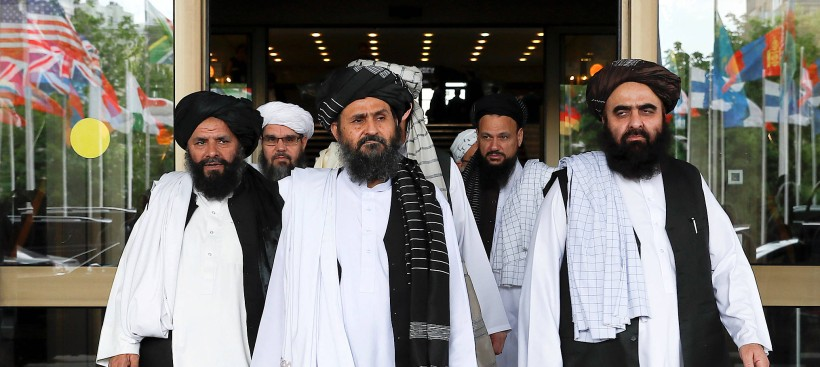 Eine Delegation der Taliban Ende September in Moskau