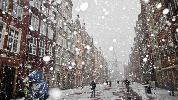 Xaver bringt viel Schnee nach Osteuropa