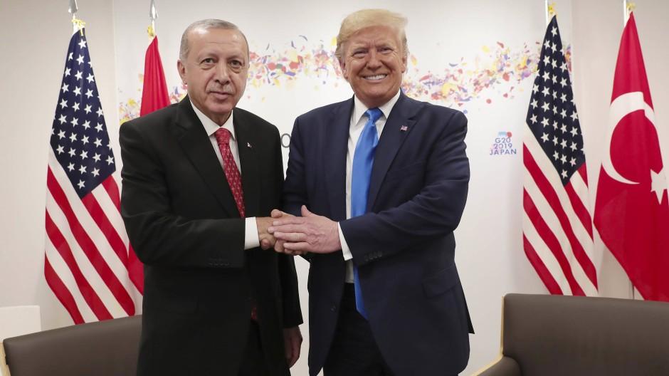 Gestörte Beziehung nicht nur beim Thema Syrien: Recep Tayyip Erdogan und Donald Trump
