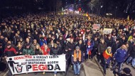 Pegida-Demonstration in Dresden am 15. Dezember.