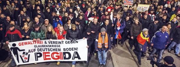 Pegida-Demonstration in Dresden am 15. Dezember.