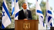 Amerikas Präsident Barack Obama würdigt Schimon Peres.