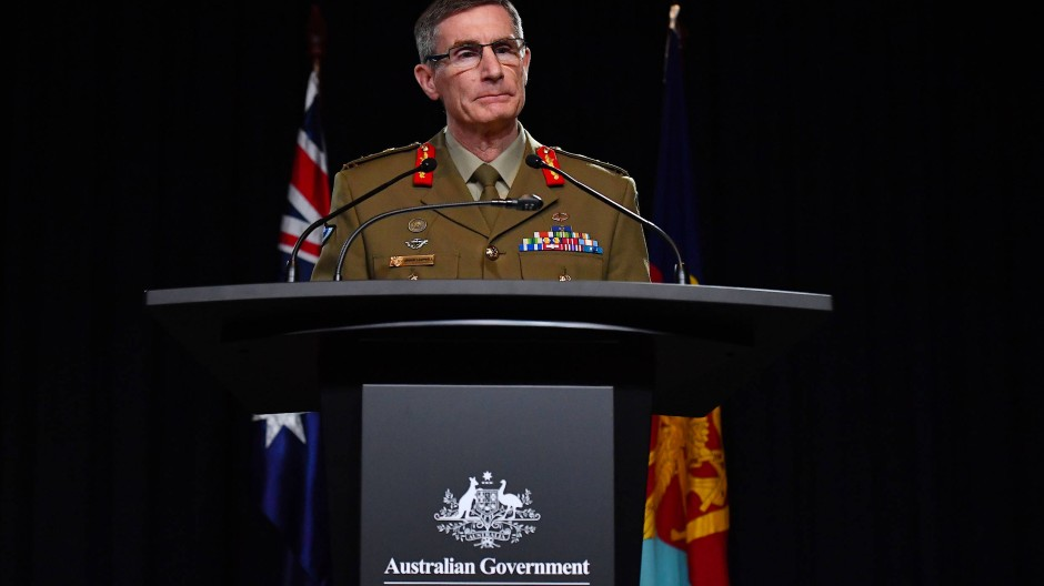 Wendet sich mit einer Entschuldigung an das afghanische Volk: der Oberbefehlshaber der australischen Streitkräfte, Angus Campbell