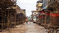 Geisterstadt: Freetown, die Hauptstadt Sierra Leones, während der dreitägigen Ausgangssperre