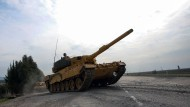 Made in Germany: Ein Leopard 2A4 der türkischen Armee im Januar 2018 auf dem Weg nach Afrin in Syrien