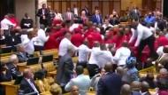Schlägerei zwischen Abgeordneten und Saaldienern im Parlament
