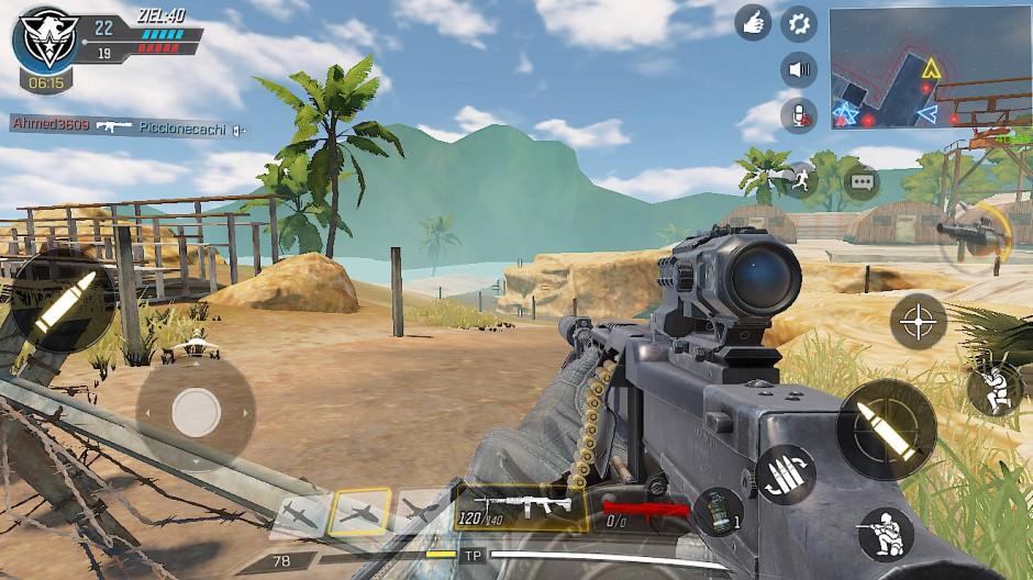 Erledigen Sie die Spieler des gegnerischen Teams: Szene aus dem Handyspiel Call of Duty Mobile
