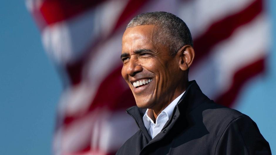 November 2020: Barack Obama im Wahlkampf für Joe Biden in Atlanta, Georgia