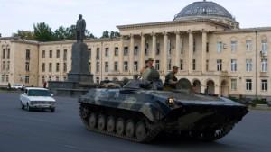 Die Wege der russischen Panzer bleiben im Verborgenen