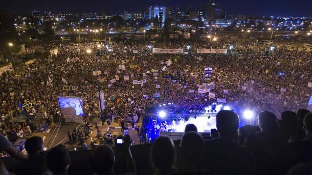 Sozialproteste in ganz Israel