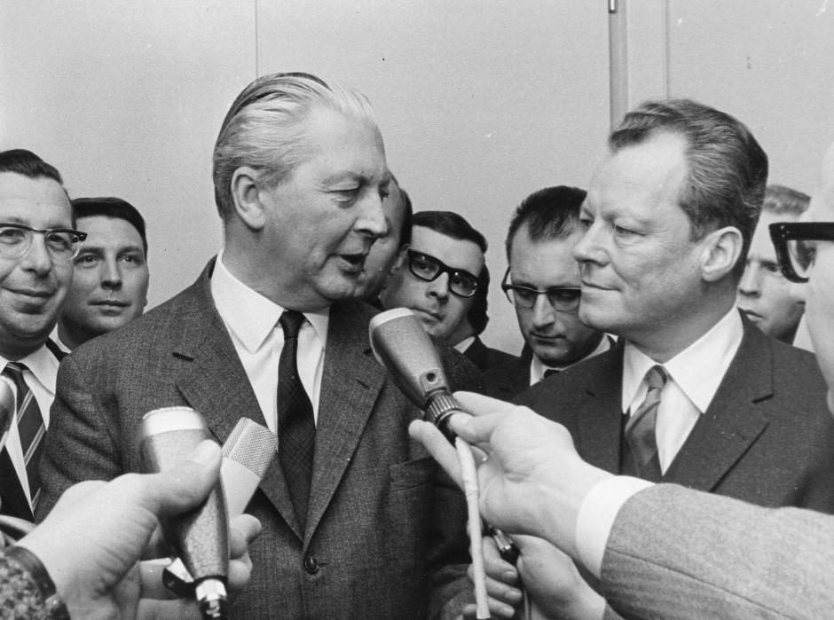 Wer kocht, wer kellnert? Kiesinger und Brandt 1966