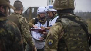 OSZE-Mission wird von Kriegsparteien behindert