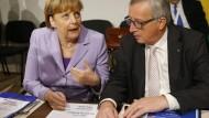 Nicht immer reibungsfreies Verhältnis: Bundeskanzlerin Angela Merkel und EU-Kommissionspräsident Jean-Claude Juncker
