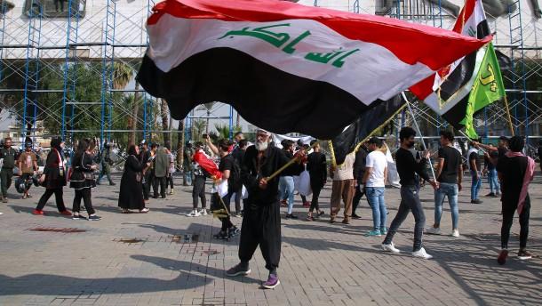 Raketen auf die Grüne Zone in Bagdad