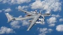 Bereits im Oktober 2014 konnte das britische Militär diese Bilder einer russischen Tupolew-Tu 95 am Rande seines Luftraums aufnehmen.
