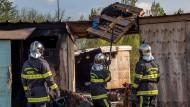 Flüchtlingslager durch Brand zerstört