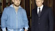 Putin mit Ramsan Kadyrow, dem Sohn des getöteten tschetschenischen Präsidenten