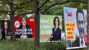 Kopf-an-Kopf-Rennen zwischen SPD und Union